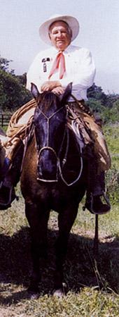 Ernest Morris on Horse