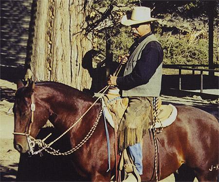 Mike Bridges on Horse