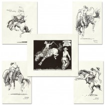 Bucking Horse Note Card Set