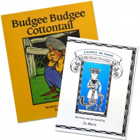 Jo Mora | 2 Book Set | Budgee Budgee Cottontail & Chippie de Munk