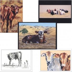 """""""Cattle"""" Notecard Set"""