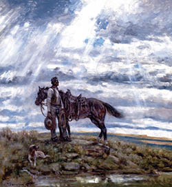 Something's Up There Bigger Than You and Me Pard giclee print